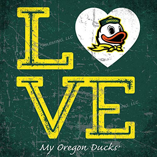 (Prints Charming College Love My Team Duck Logo Square Color Oregon Ducks Unframed Poster 13x13 Inches )