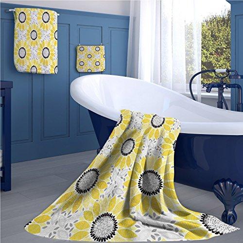 familytaste Yellow Decor Print bathroom accessories set Colo