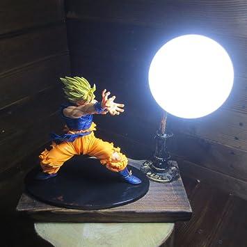 Dragon Ball Son Goku Fighting Form Genki Dama Spirit Bomb LED Table Lamp