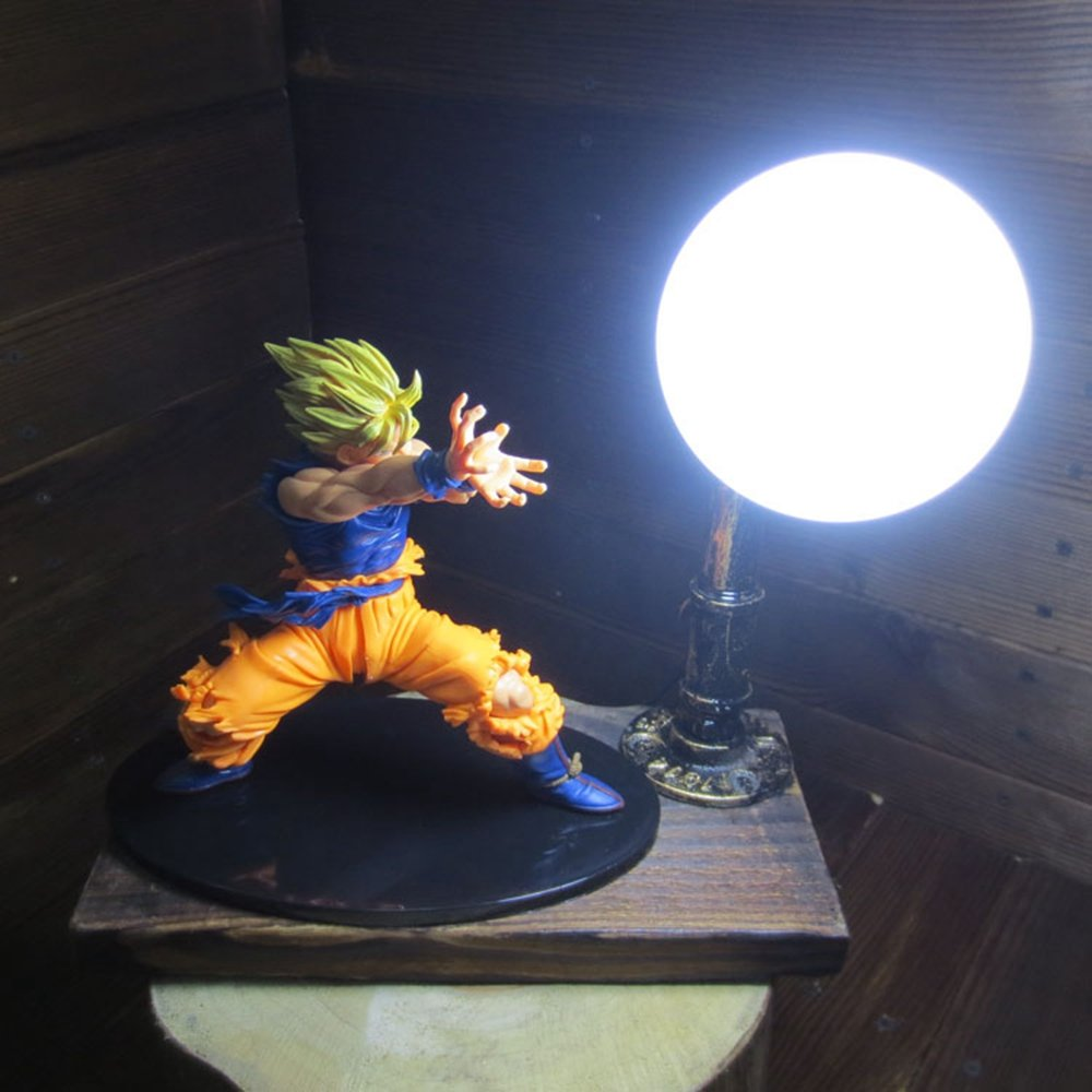 Dragon Ball Son Goku Fighting Form Genki Dama Spirit Bomb LED Table Lamp