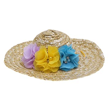 Baluue Pets Hat Verano Sombrero de Paja Sombrero para el Sol ...
