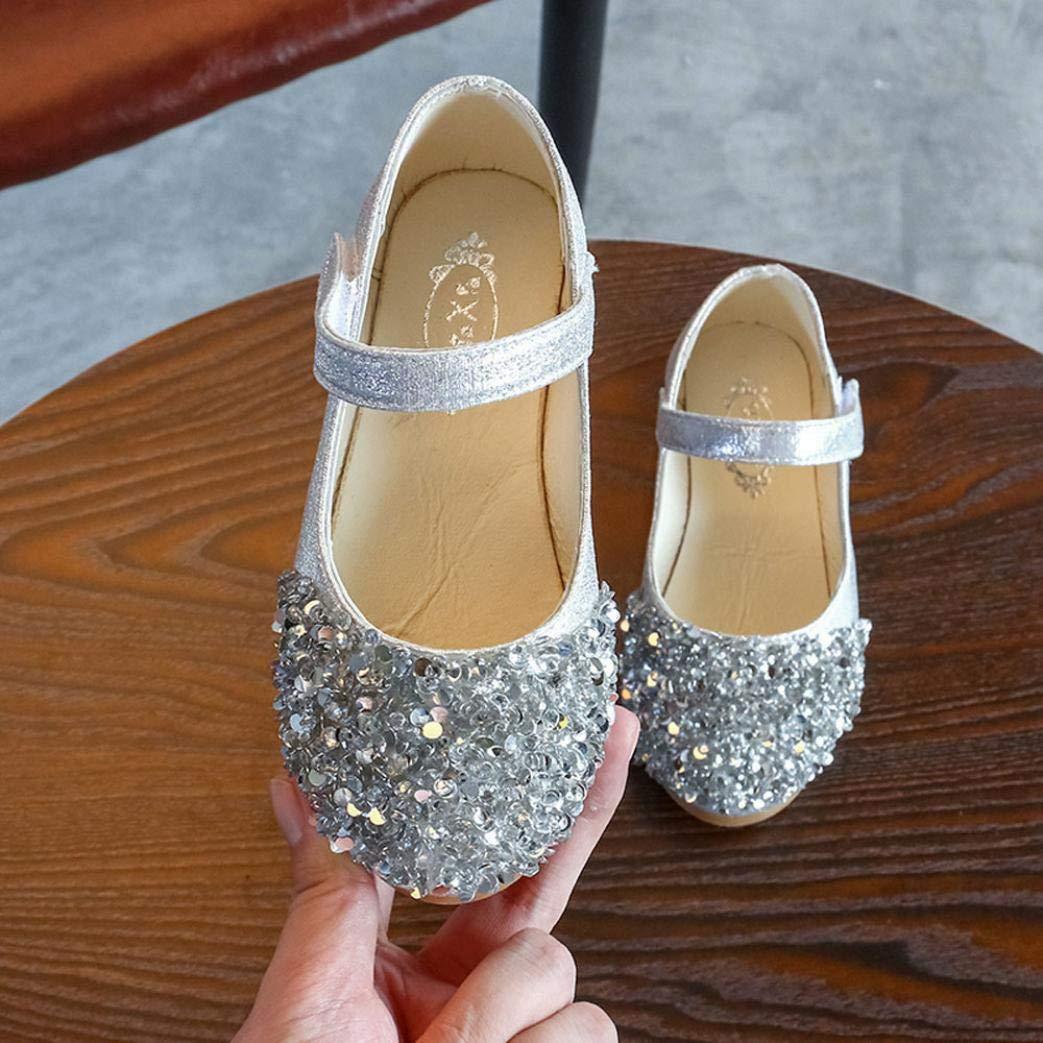 e67ac347b Zapatos para Niñas Otoño Invierno 2018 Moda PAOLIAN Calzado de Bailarinas  Danza Suela Blanda Antideslizante Zapatos de Vestir Princesa Boda ...