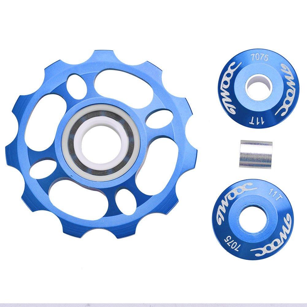 vgeby Bikeジョッキーホイール、アルミニウム合金自転車Rear Derailleur Pulleyガイドホイール B07CTH6V43ブルー