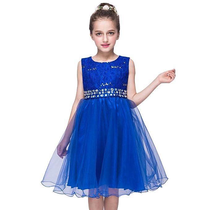 Free Fisher Vestido Largo de Princesa Encaje de Gasa para Niñas