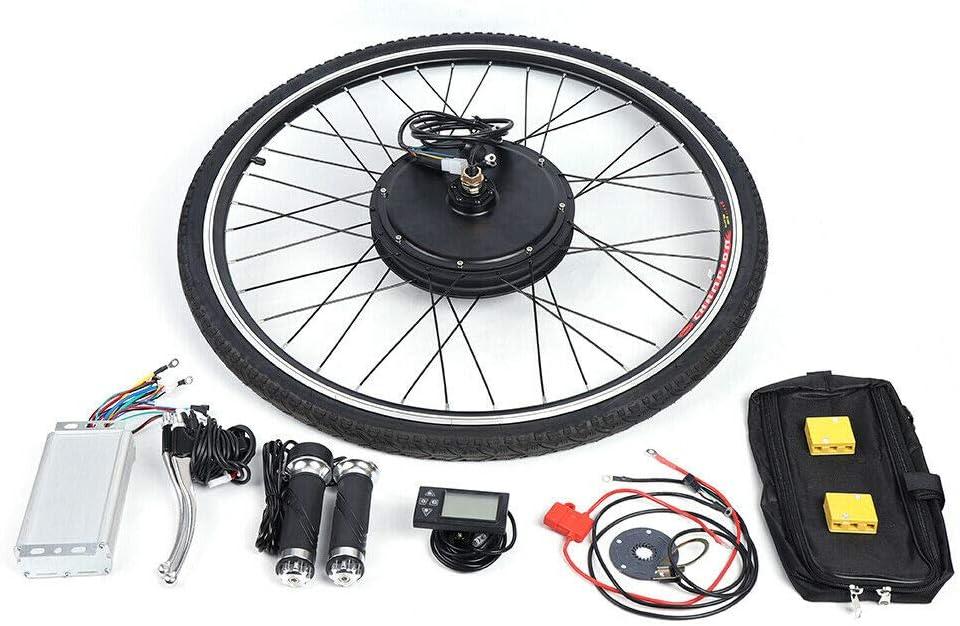 E-Bike Hinterrad Umbausatz Kit Elektrofahrrad Vorderrad E-Bike Umbausatz Frontmotor Conversion Kit WUPYI2018 Elektro-Fahrrad Kit