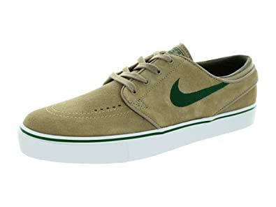 Nike Men's Zoom Stefan Janoski Khaki/Gorge Green/White/Smoke Skate Shoe 9.5
