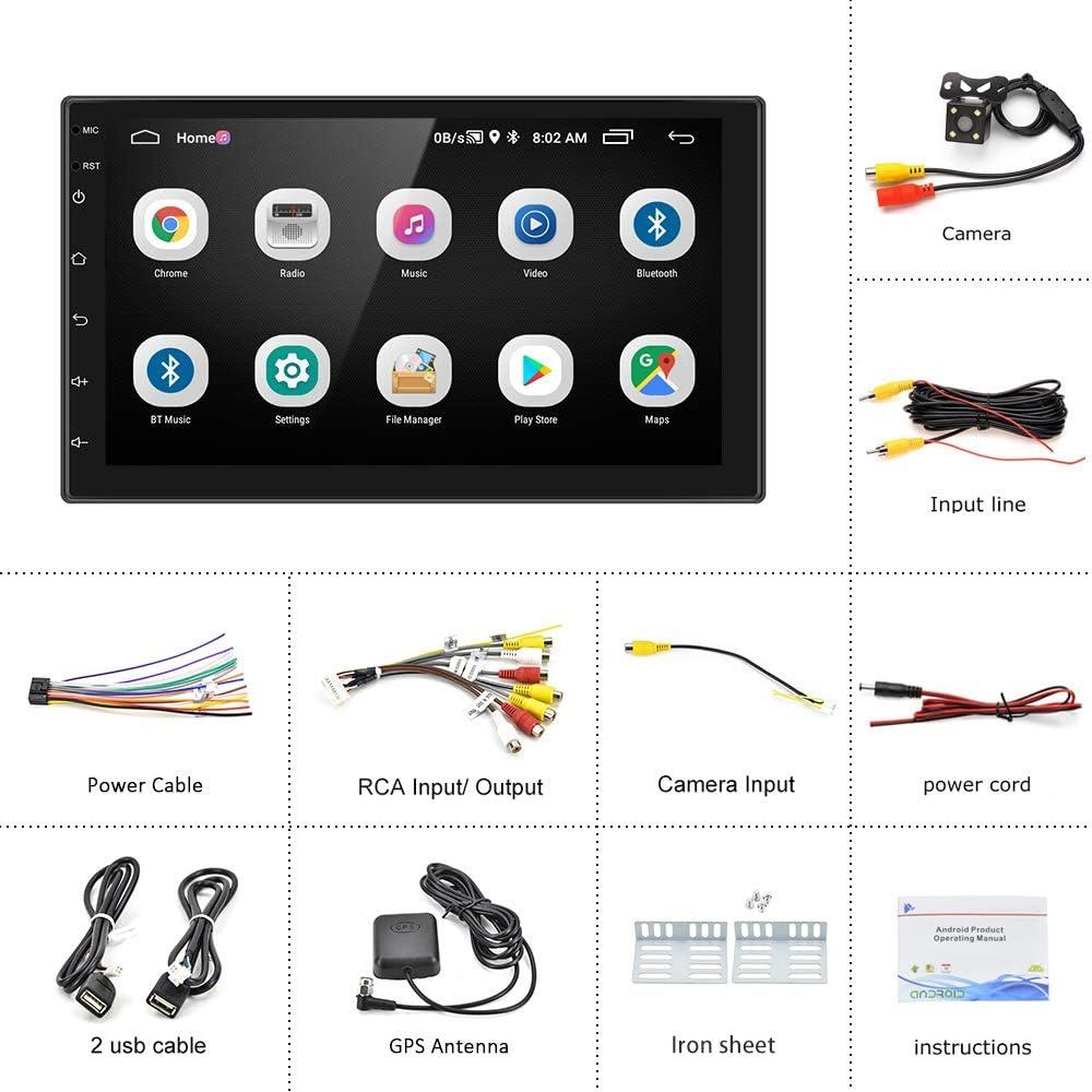 Rckfahrkamera Hikity Doppel Din Android Autoradio mit ...