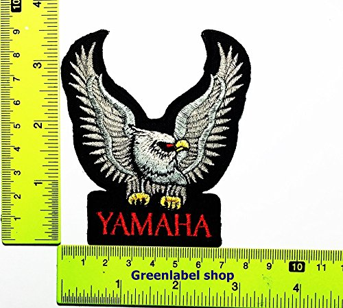 Wing YAMAHA Motorcycles Motocross MotoGP Racing Vintage Classic Biker Racer Club Patch Logo Sew Iron on Embroidered Appliques Badge Sign Costume Send Free
