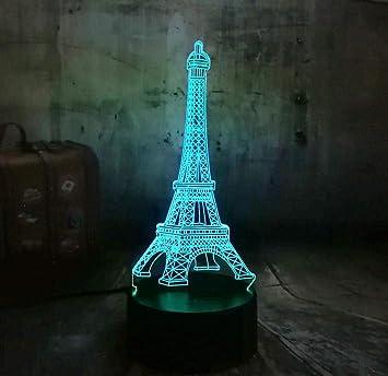 Regalo de halloweenAMOR romántico Francia PARÍS Torre Eiffel 3D ...
