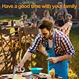 Baking Torch, Kitchen Torch, Chef Butane Torch with Safety Lock and Adjustable Flame Food Torch for Desserts Creme Brulee BBQ and Baking Butane Refillable Silver Black