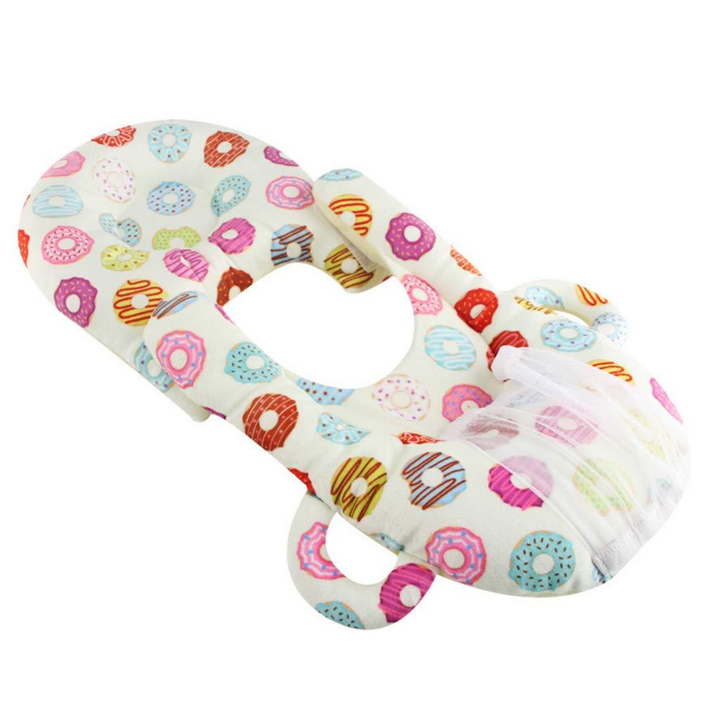 Coussin d'allaitement pour bébé Multi-purpose Anti-Spit Lait Coussin d'allaitement Beignets Bébé Siège d'auto pour poussette (Beignet) Newin Star