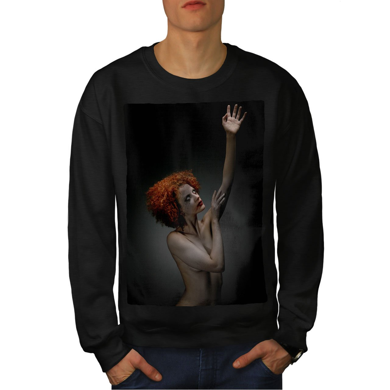 wellcoda Art Nude Hot Sensual Mens Sweatshirt Lady Casual Jumper