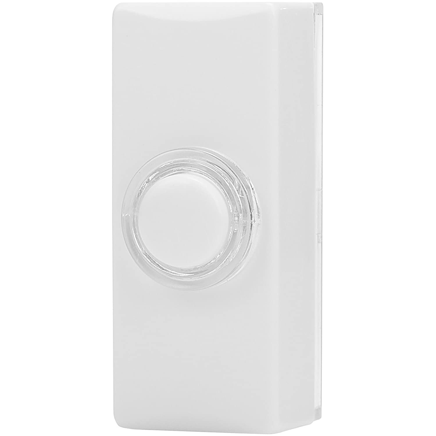 Byron 7730 Wired Bell Push White Illuminated Button Amazon Doorbell Wiring Diagram Friedland Door Circuit Smlf More Diy Tools