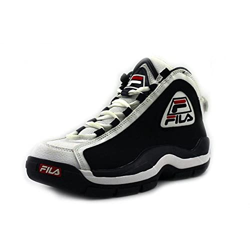 Fila 96 del Hombre Baloncesto Zapatos, Azul (Azul Marino/Blanco ...