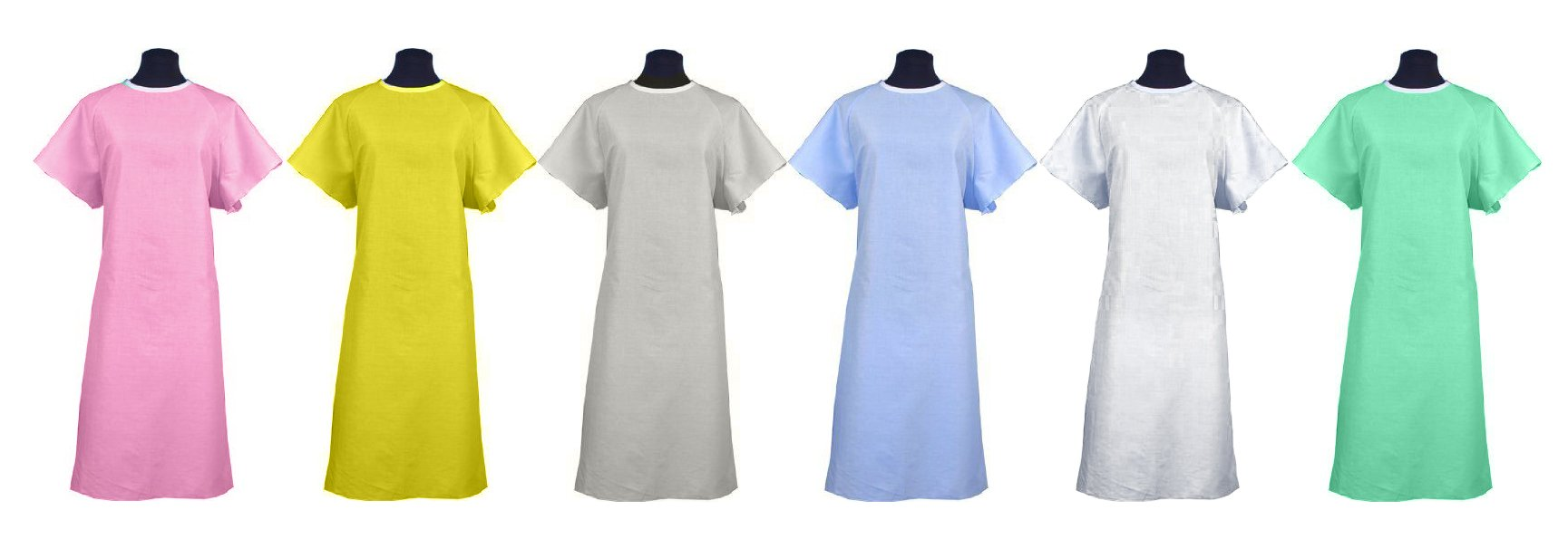 Classic Patient Medical Hospital Gown / Johnny Hospital Gowns 2pack - Many Colors to Choose From! Made in the USA (Mint)