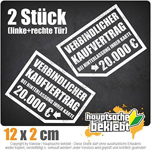 Verbindlicher Kaufvertrag 20.000 € 12,5 x 10 cm JDM Decal Sticker Aufkleber Racing Die Cut