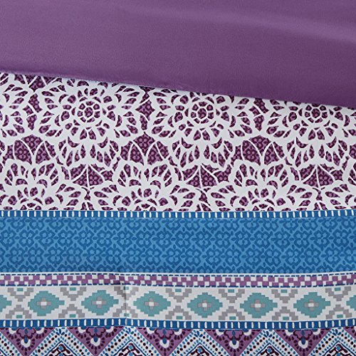 Intelligent pattern Joni Comforter Set Twin Twin Xl Size Purple Blue Bohemian Pattern 4 Piece Bed Sets really very soft Microfiber Teen Bedding For Girls Bedroom