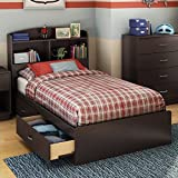 South Shore Logik Collection Twin Mates Bed, Chocolate Review and Comparison