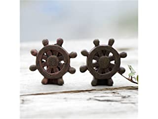 FERFERFERWON Micro Miniature Micro Landscape Rudder Ornaments DIY Outdoor Garden Home Decor pianta regalo (marrone) Decorazione del paesaggio