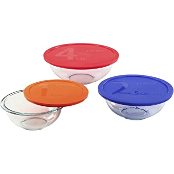 top selling Pyrex Smart Essentials Mixing Bowls