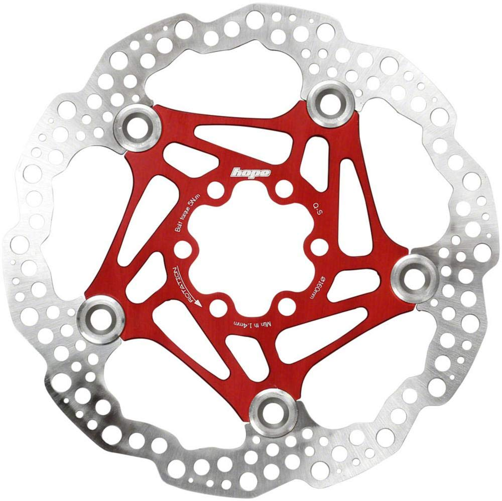 Hope Floating Disc Rotor: 160mm Red by Hope