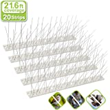 Valibe Bird Spikes for Small Birds Pigeons 21.6 Feet Coverage Stainless Steel Bird Spikes Kit Metal Bird Deterrent…