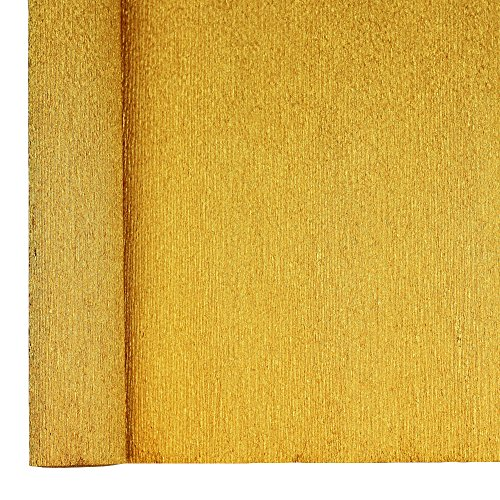 Just Artifacts Premium Metallic Crepe Paper Roll - 8ft Length/20in Width (Color: