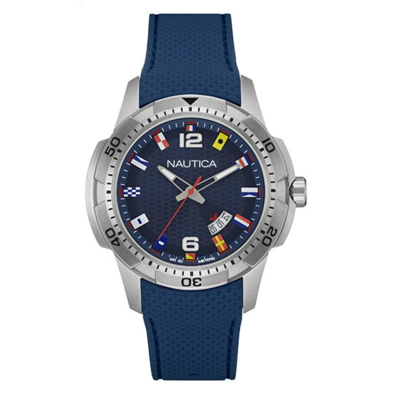 Nautica Herren-Armbanduhr Analog Quarz Silikon NAI13515G
