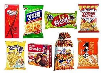 Amazon com: Mixed Variety of Korean Snacks (8 snacks)