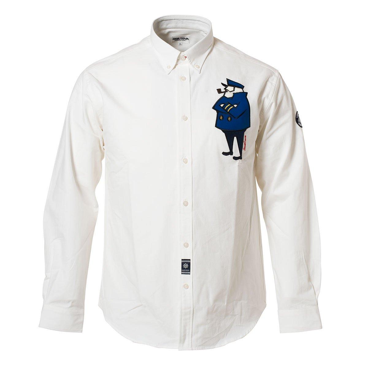 (シナコバ) SINA COVA ボタンダウンシャツ B07533HC1M M|ホワイト ホワイト M