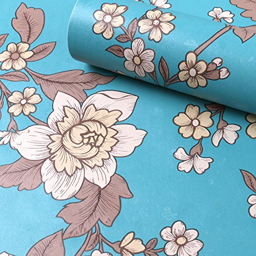 Locker Room Style Nightstand (SimpleLife4U Vintage Peony Decorative Contact Paper Self Adhesive Shelf Drawer Liner Christmas Wall Art)