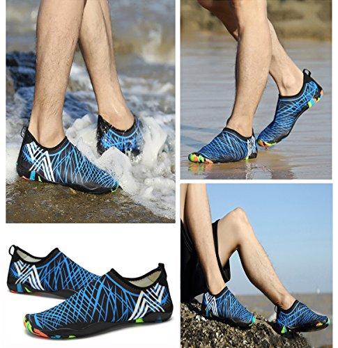 Xylxyl Multifunctional Wasser Schuhe, leichte flexible Quick Dry Aqua Socken für Männer und Frauen Blau