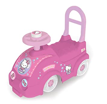 hello kitty kids ride on car with push bar