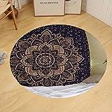 Gzhihine Custom round floor mat Sweet Threads Indian Twin Hippie Mandala Throw Bohemian Bedspread Dorm Decor Queen Size 210 X 230