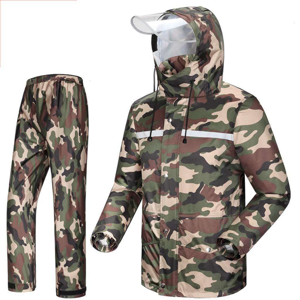 HGXC WY Adult Regenmantel, regenfest und Winddicht mit mit Winddicht Kapuze Outdoor-Arbeit Motorrad-Tour Jagd-Camouflage draussen (größe   XXXL) c81119