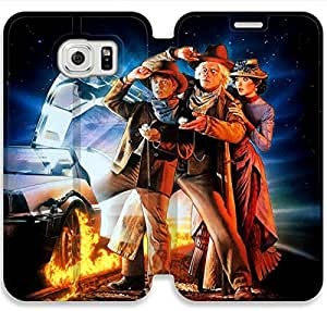 Back To The Future-8 iPhone Samsung Galaxy S6 Edge Leather Flip Case Protective Cover New Colorful