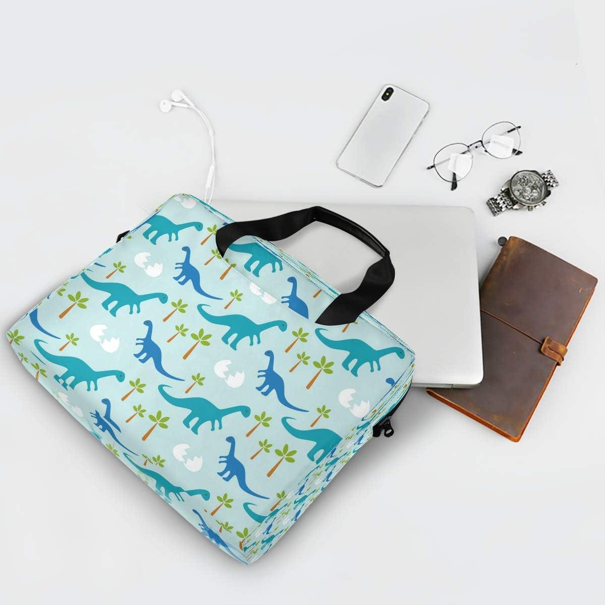BETTKEN Laptop Case Sleeve Animal Dinosaur Tree Paw Pattern 15-16 inch Briefcase Travel Tote Messenger Notebook Computer Crossbody Bag with Strap Handle for Women Men