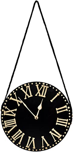 Purpledip Vintage Wooden Wall Clock Handmade D cor Time Piece 10284