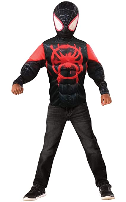 Rubies Official Disney Spider-Man Spider-Verse Film Costume, Miles Morales Deluxe Costume Age 4-6 years