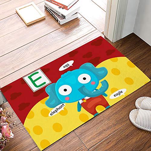 Fantasy Star Indoor Door Mats for Front Door Entrance Way Alphabet Letter E Elephant Doormat Shoes Scraper Dirt Debris Mud Trapper Patio Rugs Low Profile Washable Carpet 20