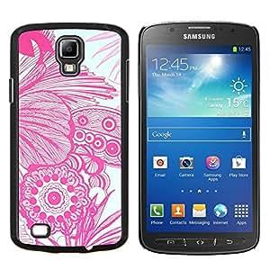 Stuss Case / Funda Carcasa protectora - Arte Floral Flores Dibujo blanco Mano - Samsung Galaxy S4 Active i9295