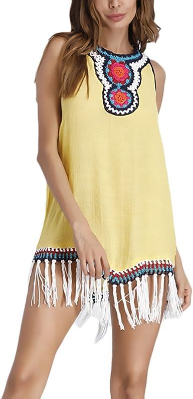 Camisas Mujer Elegantes Verano Casual con Flecos Blusas Talla ...