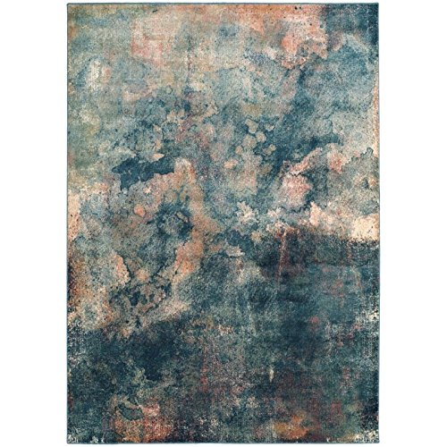 Safavieh Constellation Vintage Collection CNV765-2220 Abstract Watercolor Light Blue and Multi Viscose Area Rug (2' x ()