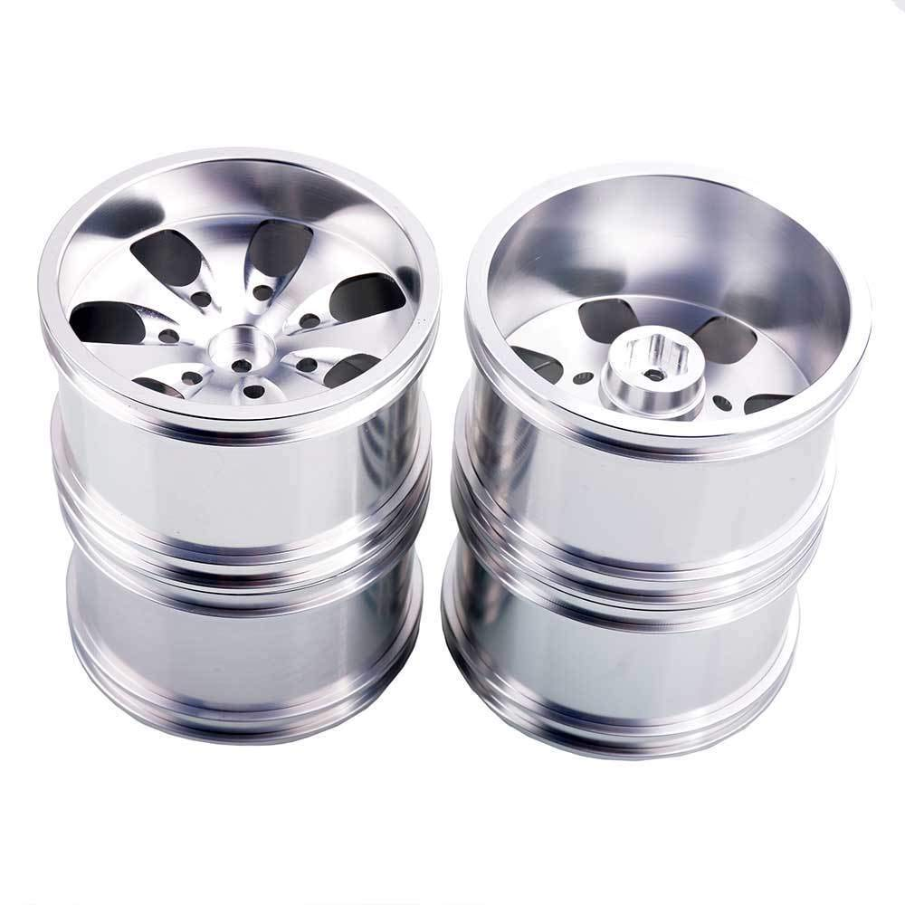 Toyoutdoorparts RC 08008N Silver Alumiunm Wheel 4P Rims D:78mm W:50mm for HSP 1:10 Monster Truck by Toyoutdoorparts (Image #4)