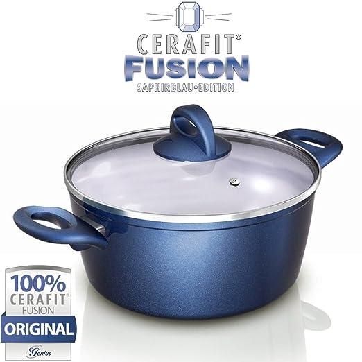 Genius DIS1 Cerafit Fusion olla Juego de 2 piezas de ...