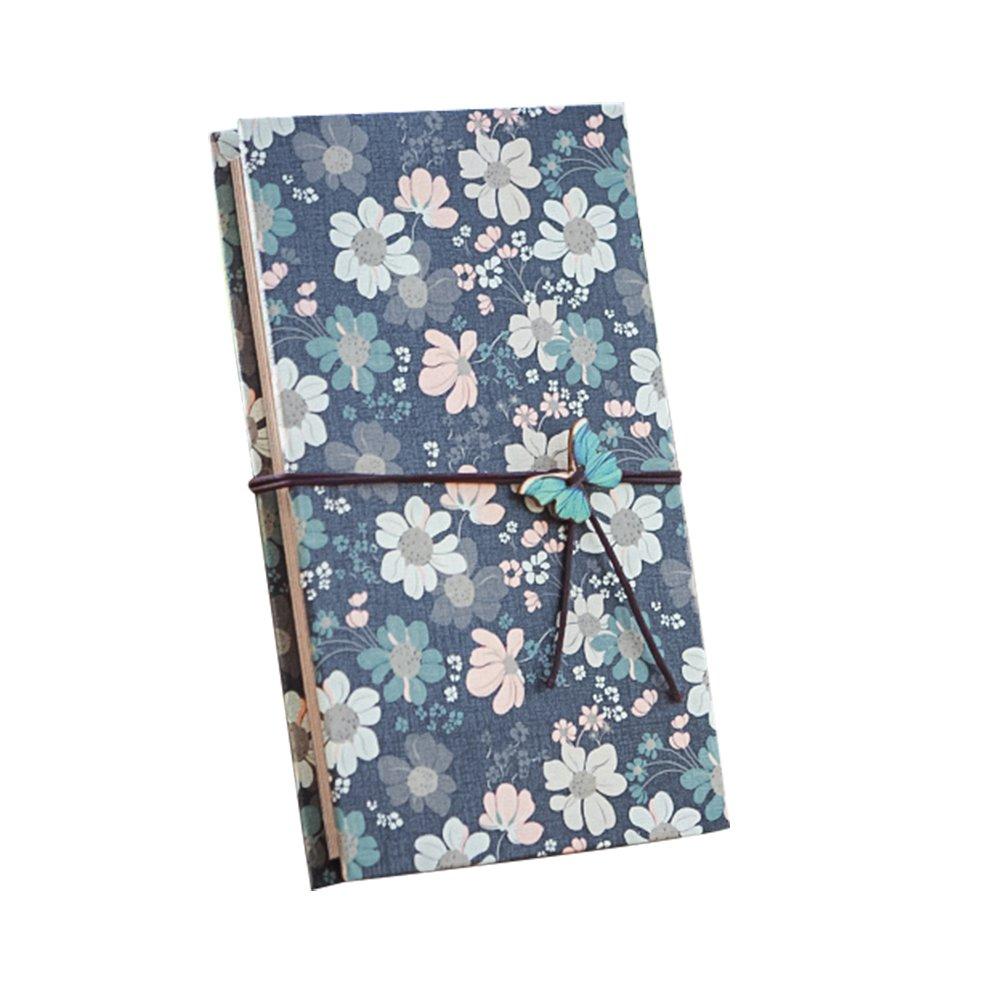 Forusky 1-6 inch DIY Hardcover Kraft Paper Folding Scrapbook Album for Instax Mini / Wide Camera