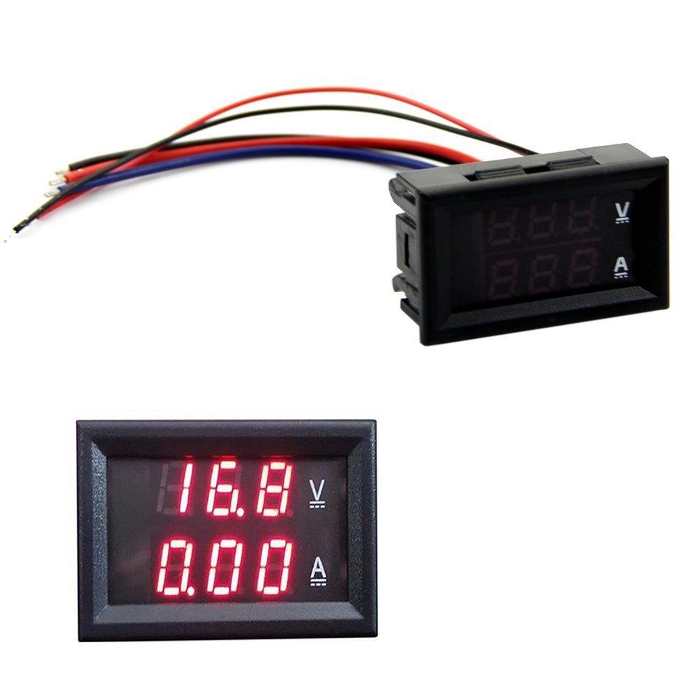 HeroNeo® DC 100V 10A Voltmeter Ammeter Red LED Panel Amp Dual Digital Volt Meter Gauge HeroNeo® PEPAZUALAZA613