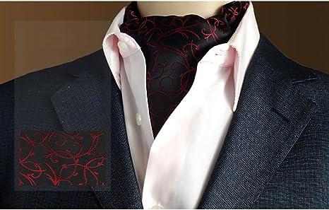 LIANGJUN - Pañuelo de Seda Elegante para Hombre, Bufanda de ...