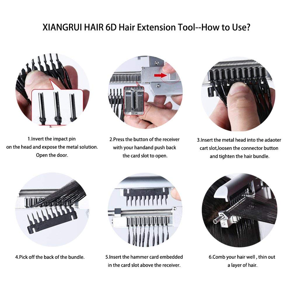 Amazon Xiangrui Hair 6d Hair Extensions Tool Connector Removal