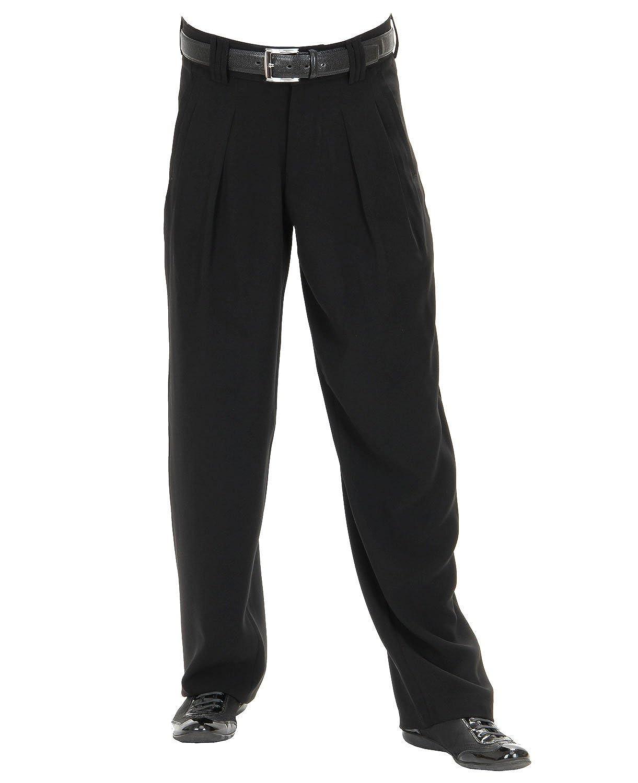 H.K.Mandel Men's Pleat-Front Plain Trousers black black